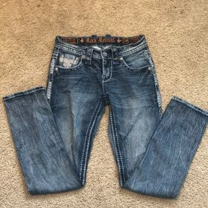 Men's size 28 slim straight rock revivals! New!💙